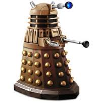 Image description: a picture of a Dalek from Dr Who. It's from the Christopher Eccleston & David Tennant era of the series, as these are the one's I watched growing up.