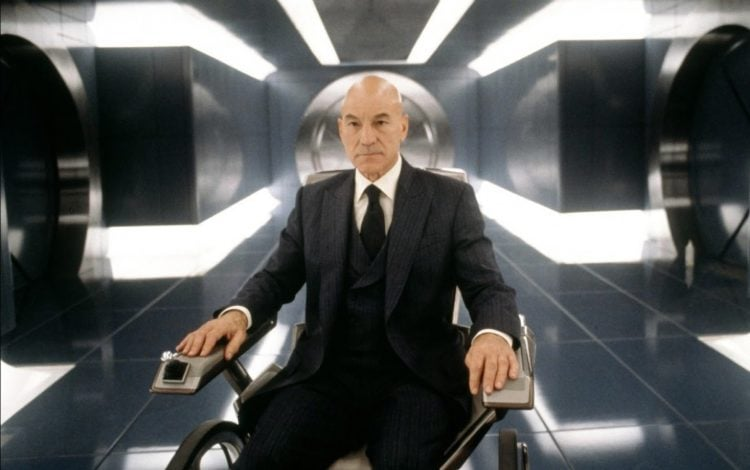 Professor X in his wheelchair.